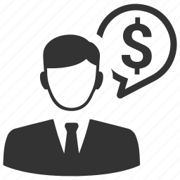 dollar, earnings, finance, income, money, salary, salesman icon