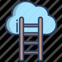 cloud, ladder