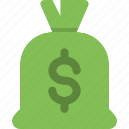 bag, cash, currency, dollars, money, money bag, payment icon