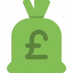 bag, cash, currency, money, money bag, payment, pounds icon