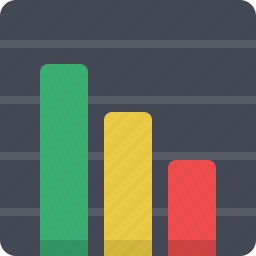 analytics, chart, decrease, diagram, graph, report, statistics icon