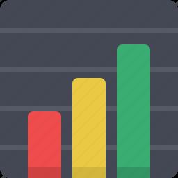analytics, bar, diagram, financial, increase, rise, statistics icon