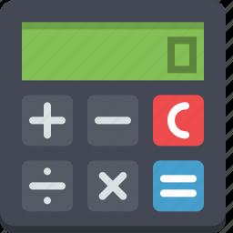 calculate, calculation, calculator, math, mathematics, result icon