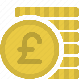 cash, coins, currency, finance, money, payment, pounds icon