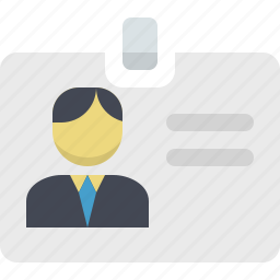 card, id card, id pass, manager, profile, user, user profile icon