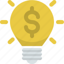 business idea, charge, electricity, energy, idea, lightbulb, power icon