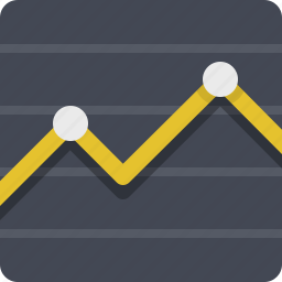 chart, diagram, finance, graph, line chart, report, statistics icon