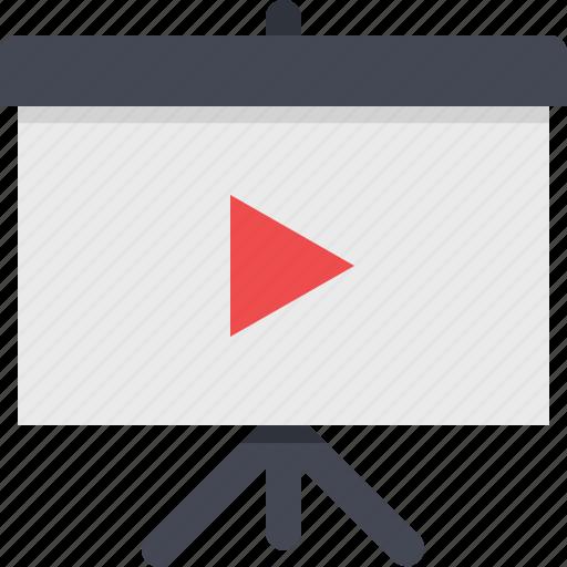 media, movie, presentation, video icon
