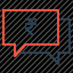 business, chatting, finance, message, money, talk icon