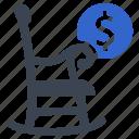 armchair, pension, planning, retirement icon
