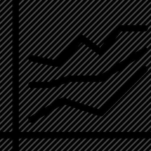analytics, business, businessman, chart, charts, comparison, creative, diagram, finance, financial, graph, grid, line, line-chart, line-graph, marketing, report, representation, shape, statistics icon