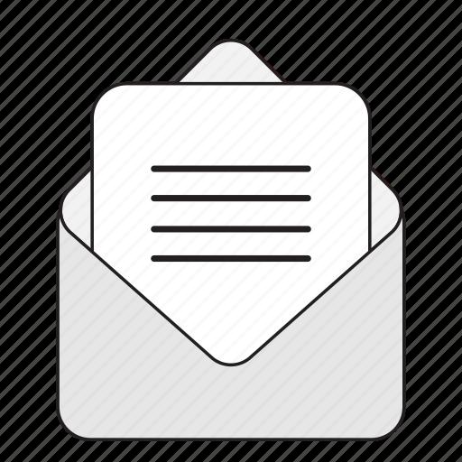 envelop, file, folder, paper icon