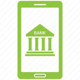 bank, banking, online, phone, smartphone icon