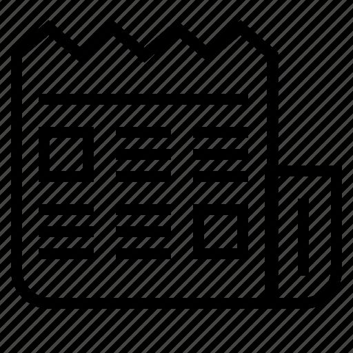 business, feed, news, newsfeed, newspaper icon