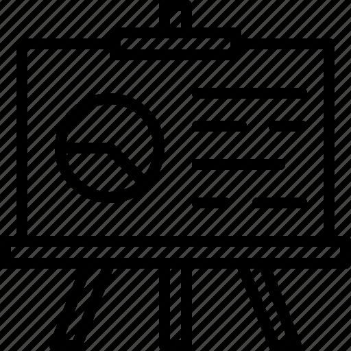 board, business, chart, paper, pie, present, presentation icon