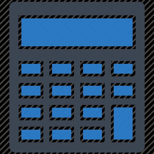 calculate, calculator, device, math icon