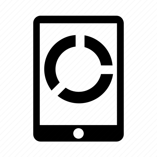 chart, device, gadget, mobile, phone icon icon