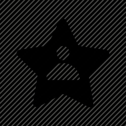 businessman, profile, rating, star, user icon icon