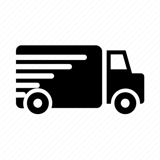 delivery, fast, quick, speed, van icon icon