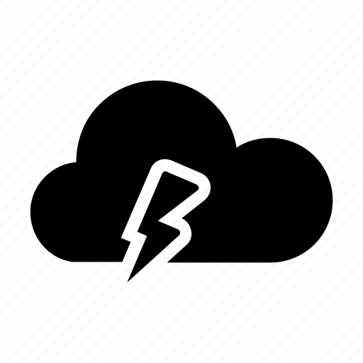 cloud, flash, forecast, idea, light, weather icon icon