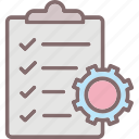 clipboard, cog, project, project management, task