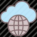 cloud connectivity, cloud service, globe, network