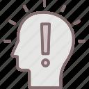 brain, exclamation, idea, intelligence, mentality