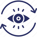 survey, formation of vision, vision, observation, view icon