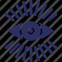 impression, opinion, suspicion, view, vision icon
