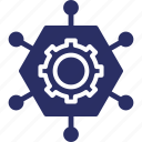 abilities, cog, management skill, organization, skills icon