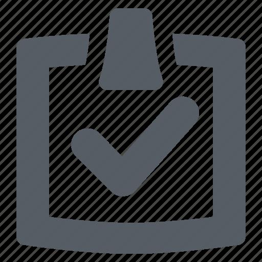 approval, check, checklist, clipboard icon
