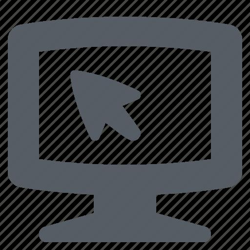 computer, cursor, display, monitor, pc, screen icon