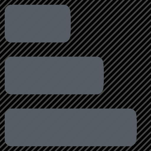 bar, chart, data, diagram, graph, horizontal icon