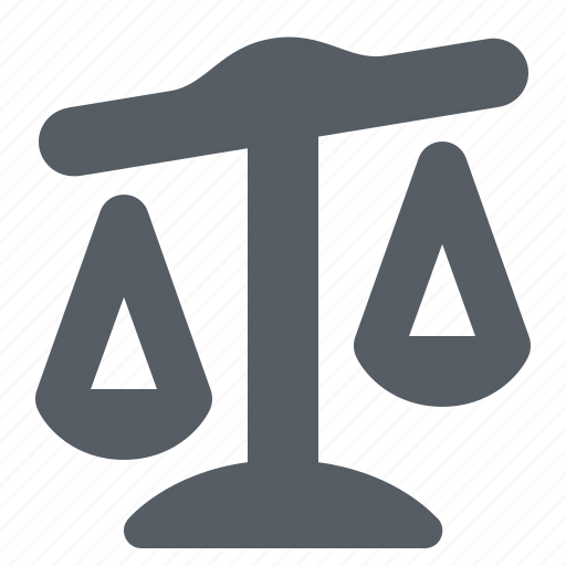 balance, justice, law, scales, weight icon