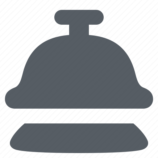 bell, call, hotel, reception, ring, service icon