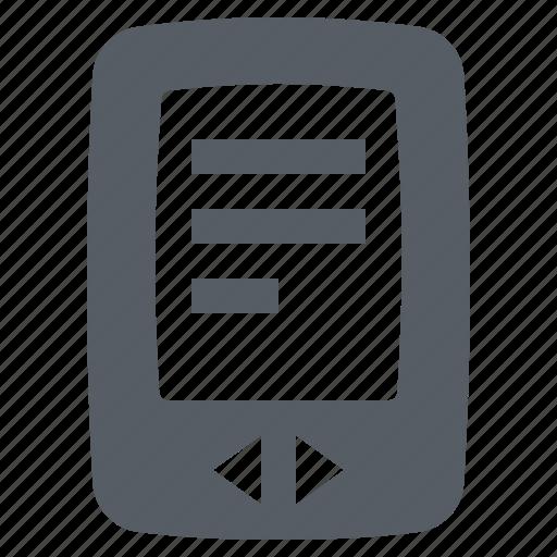 book, device, digital, e, reader, screen icon