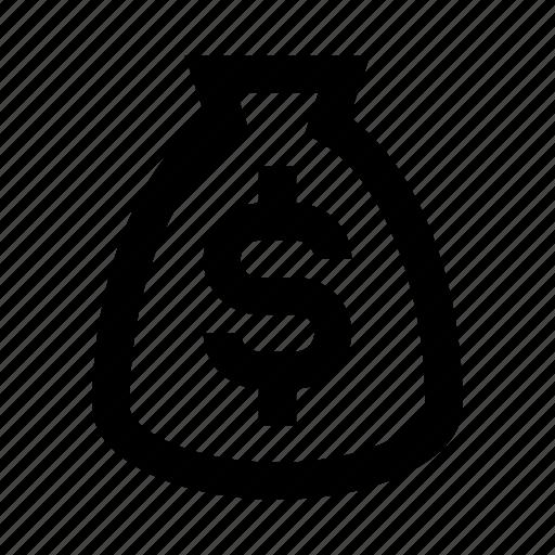 bag, finance, money icon