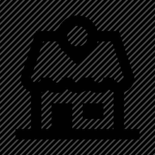location, shop, store icon