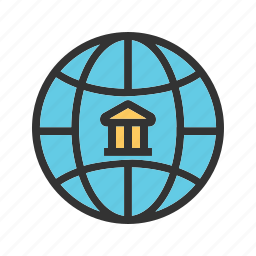 bank, business, finance, financial, global, stock, world icon