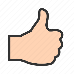 good, hand, sign, social, thumb, thumbs icon