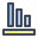 analysis, broke, business, debt, finance, loss, statistics icon