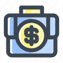 bag, briefcase, business, case, finance, luggage, suitcase icon