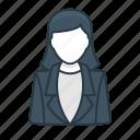 business, employee, finance, office, secretary, woman, worker icon