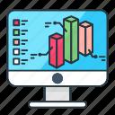 analytics, bar, business, chart, computer, finance, graph