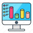 analytics, business, chart, computer, finance, graph, round bar