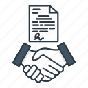 agreement, business, cooperation, deal, finance, handshake icon