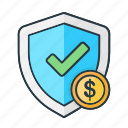 currency, dollar, finance, money, protection, safe, shield