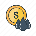 business, dollar, finance, gasoline, oil, petroleum, price icon