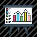 analytics, bar, board, chart, finance, graph, presentation