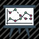 analytics, board, chart, finance, graph, presentation